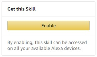 Alexa Skill instructions